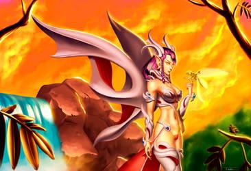 Dragongirl by ExaelART