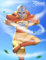 Aang - Avatar: The Last Airbender by ExaelART