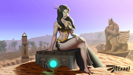 Commission - Blood Elf by ExaelART