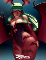 Morrigan [NSFW Gumroad optional] by ExaelART