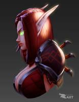 Blood elf Rogue portrait by ExaelART