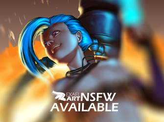 Jinx nsfw preview by ExaelART