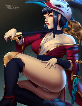 Blood Moon Akali (NSFW option)
