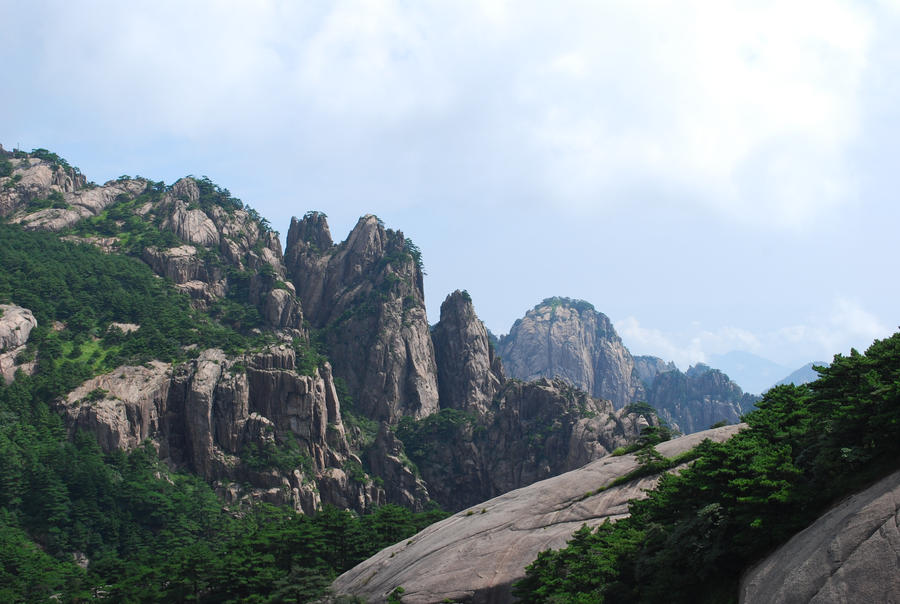 خلفيات دمج خلفيات جبال صور دمج صور جبال واماكن عاليه huangshan_1_3_by_meihua_stock.jpg