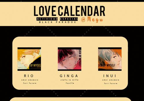 Love Calendar BP icons shoujo bishies