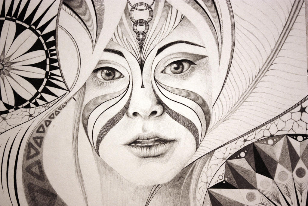 circular abstract portrait by emi leigh on deviantart