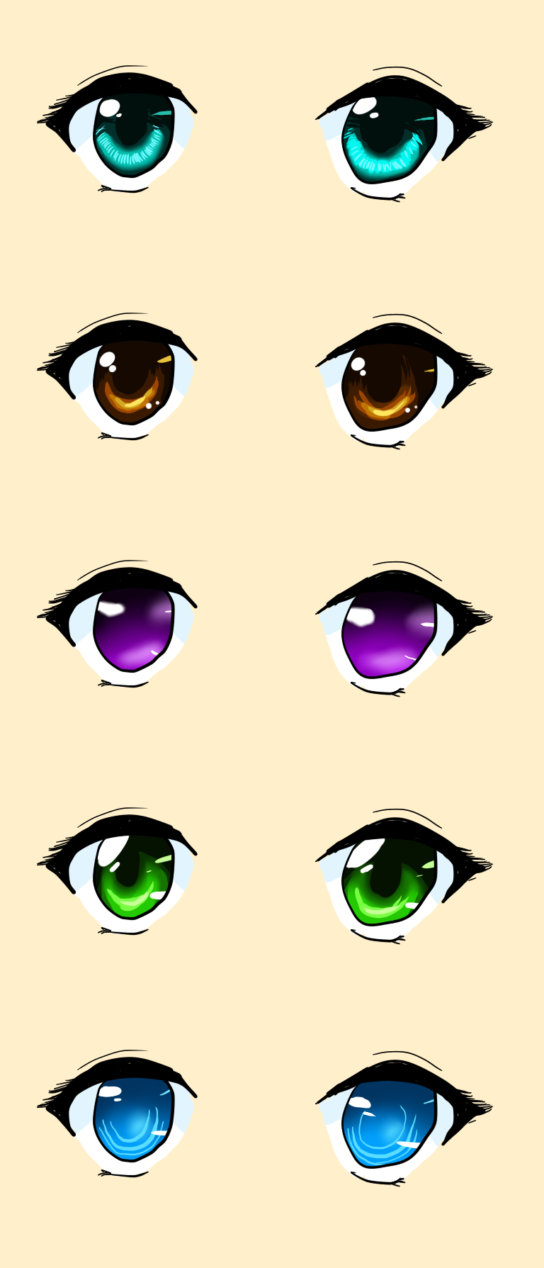 5 ways to color anime eyes by sisleyloveskiro on deviantart