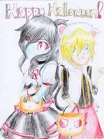 Fanart ~~ Happy Halloween!! by reeno-tsun