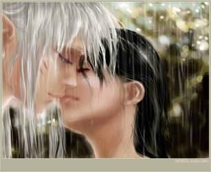 In the Rain - Inuyasha by Technoelfie