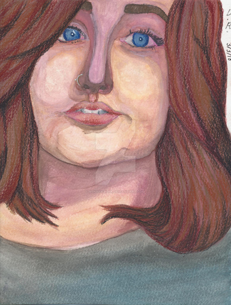 Watercolour Portrait by SenriUchiha