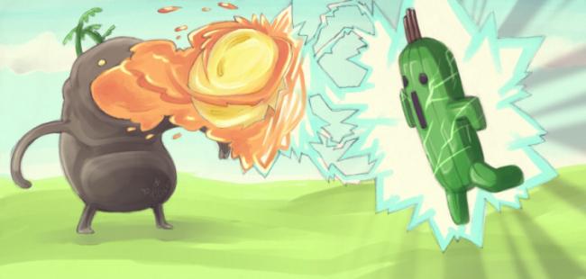Goobbue vs Cactiliar by GresiteIsland