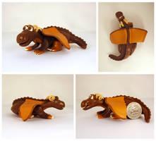 Brown Dragon by Koreena