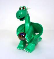 Sparkly green dragon by Koreena
