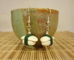 Squid sushi earrings by Koreena