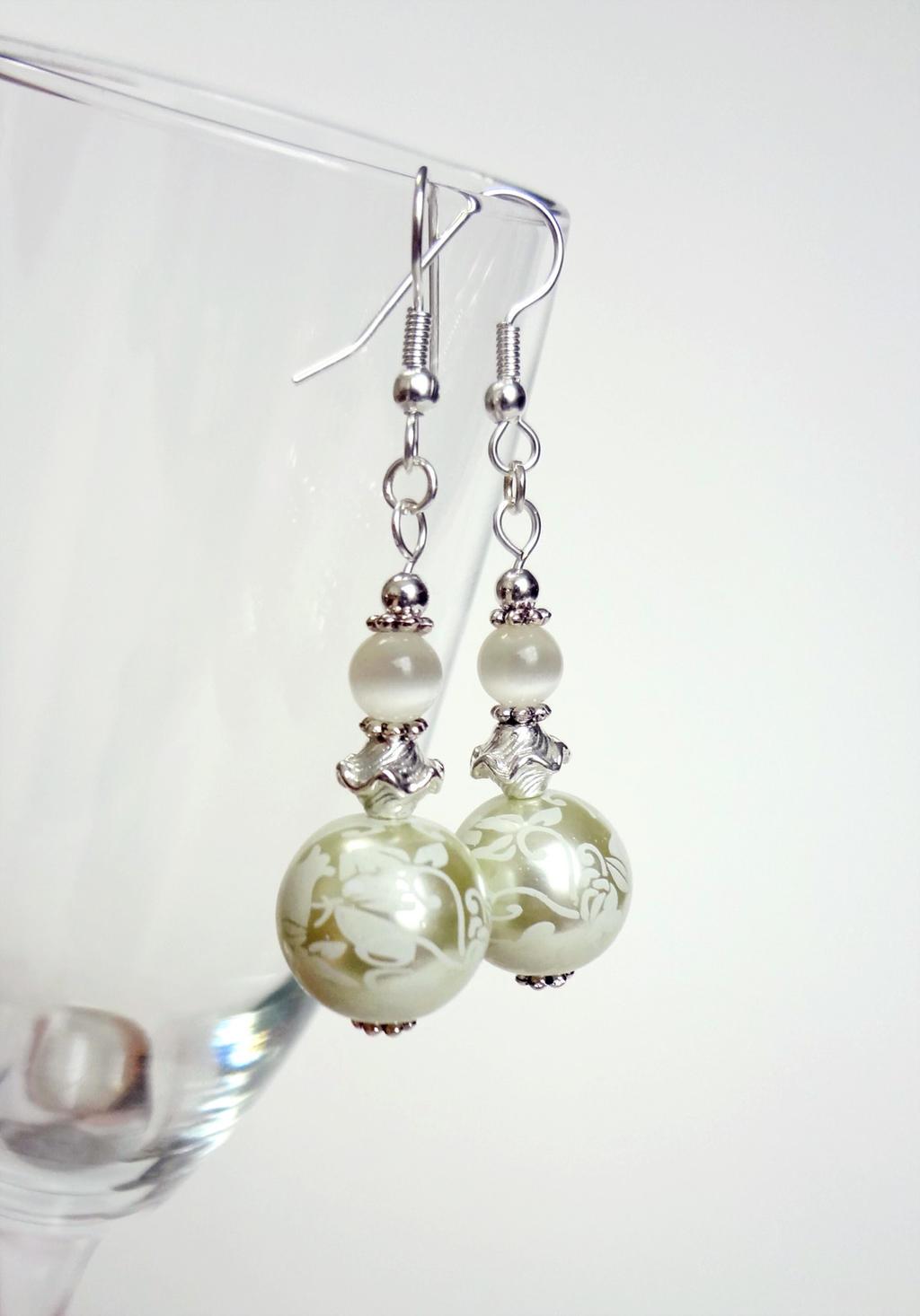 White Wedding earrings 1