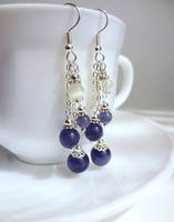 Purple fiber optic dangles by Koreena