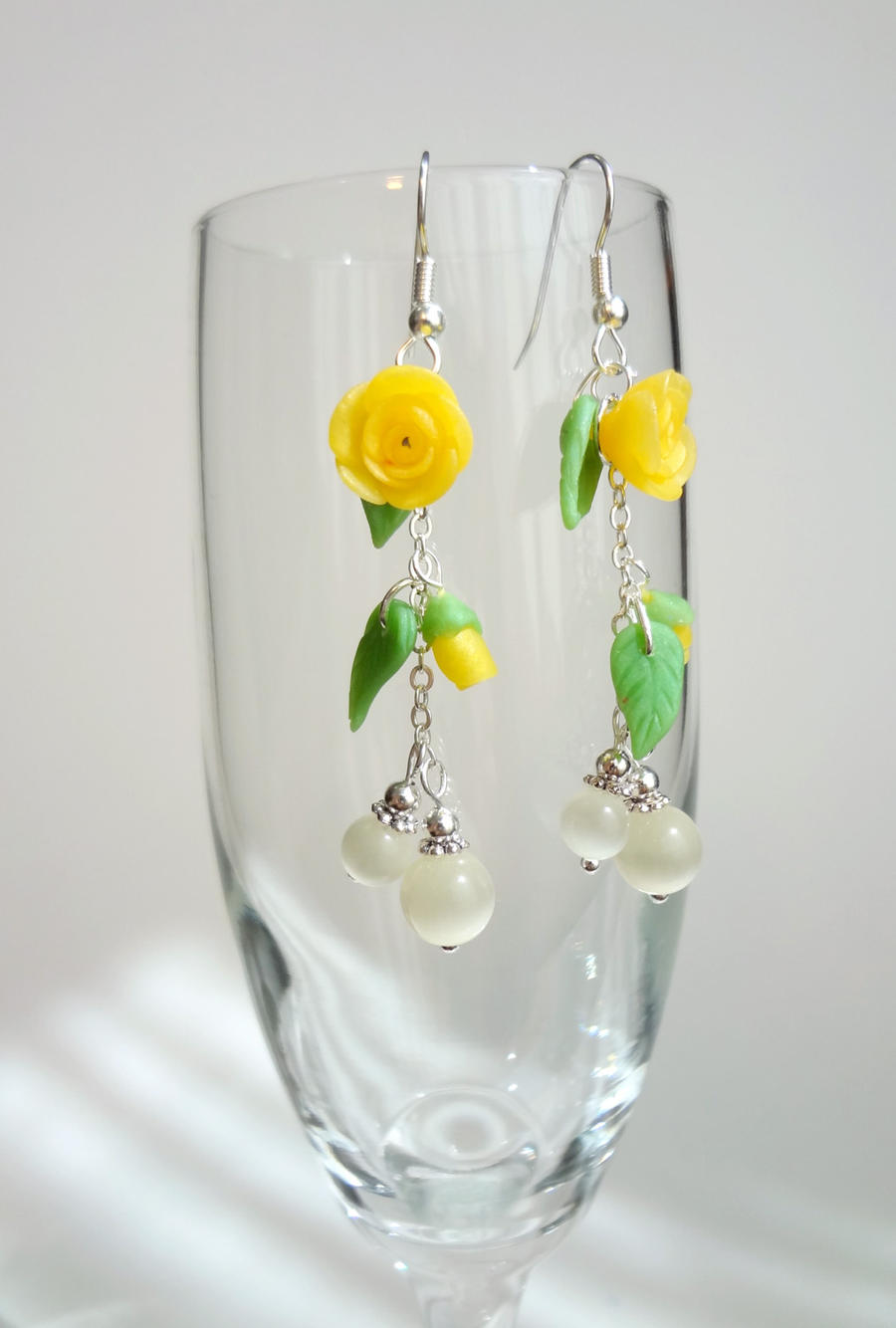 Spring - Yellow Rose - earrings