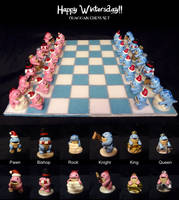 Quaggan chess set finished by Koreena