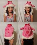 Fuzzy pink quaggan hat