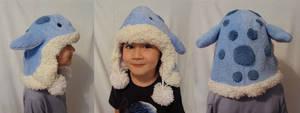 Fuzzy blue quaggan hat
