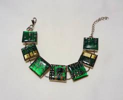 Circuit bracelet by Koreena