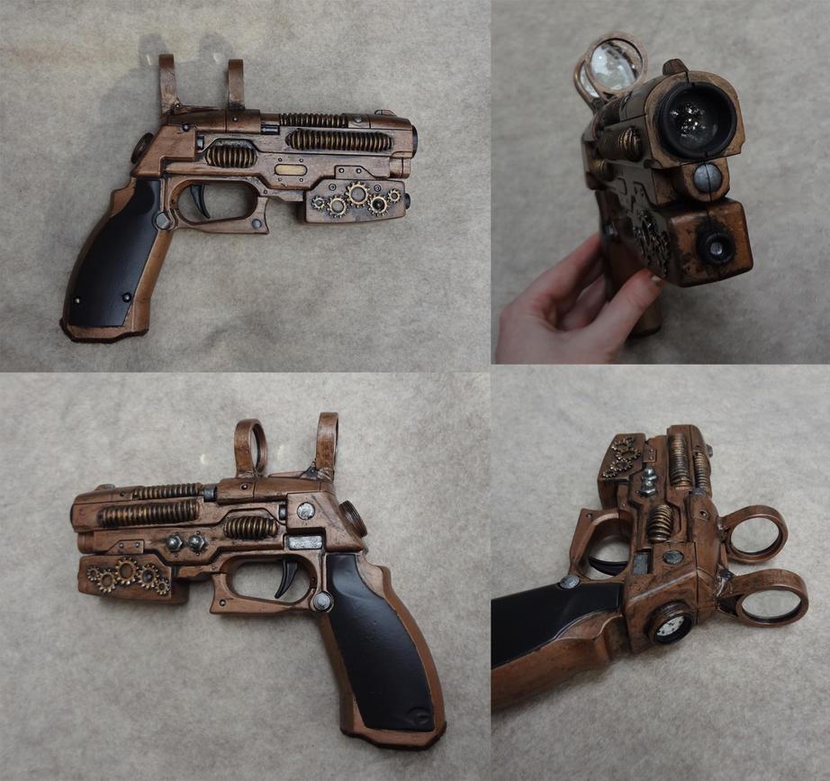 Steampunk prop gun
