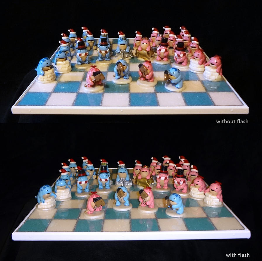 Quaggan chess set - updated by Koreena