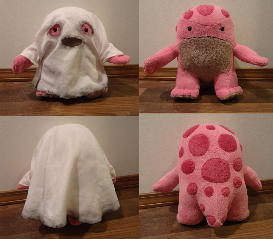 Pink quaggan with ghost outfit by Koreena