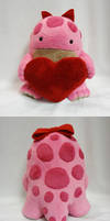 Pink quaggan plush with heart