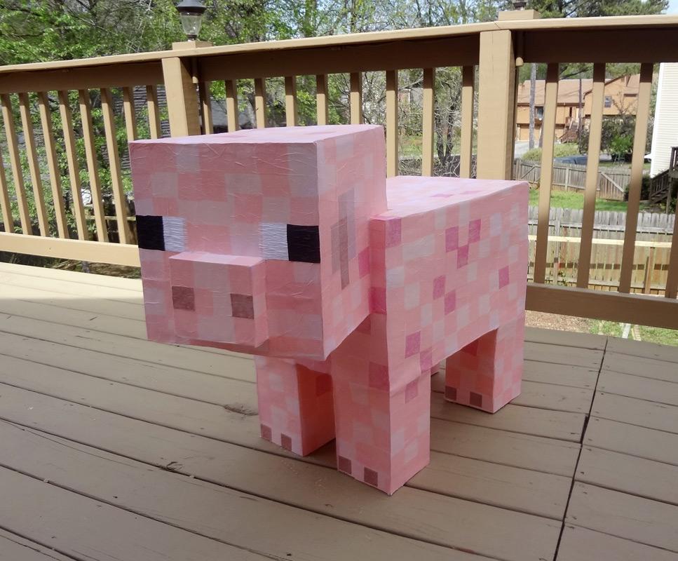 Paper Minecraft Pig