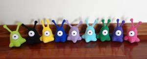 A rainbow of alien creatures