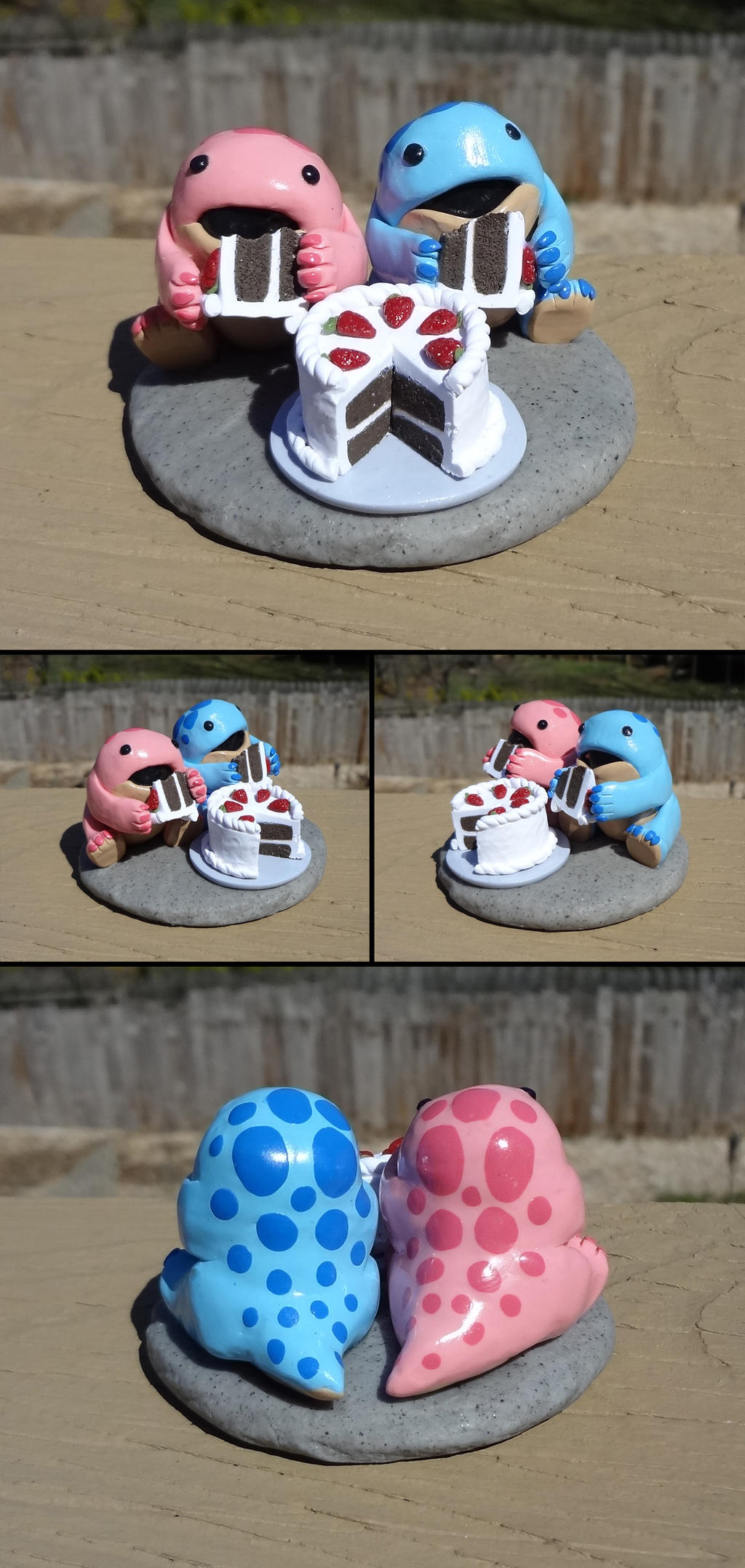 Quaggan pair with cake