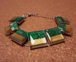 Green circuit board bracelet