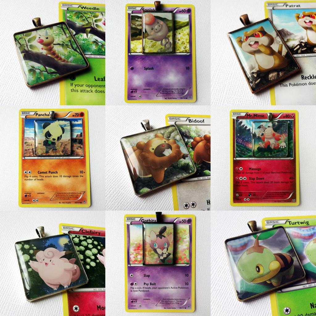 Assorted Pokemon pendants