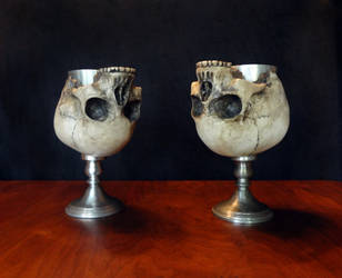 Skull goblets by Koreena