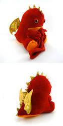 Sleepy red dragon by Koreena