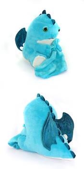 Blue sleepy dragon