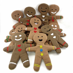 Gingerbread and Molasses Cookie plushies