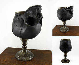 Blackened skull goblet