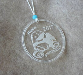 Acrylic Wintersday ornament