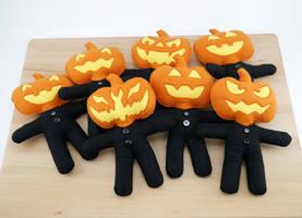 Pumpkin Guard plushies by Koreena