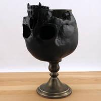 Vampire skull goblet