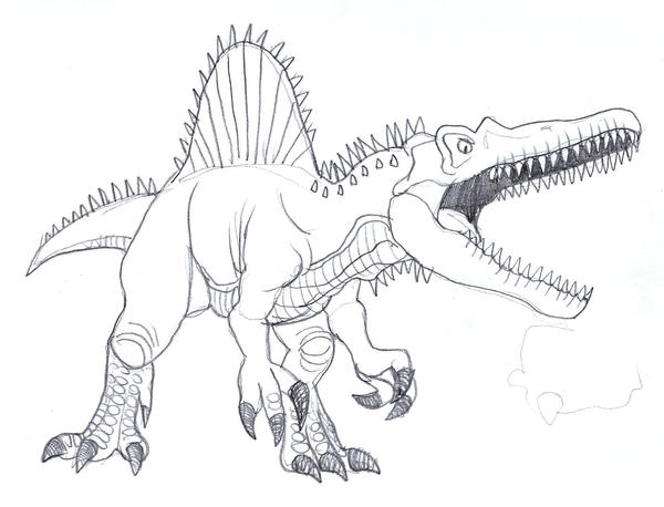 t rex and spinosaurus coloring pages - photo #15