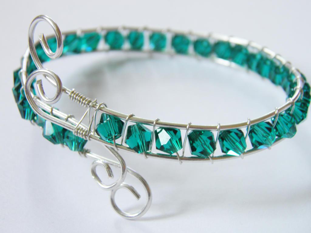 Sterling silver and crystal Bracelet by NorthStarCherry on DeviantArt