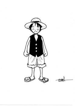 Render fanart Monkey D Luffy