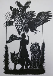 My obsession- A paper cutout project for IB ART by mich-spich