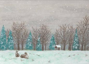 Snowy Field by mich-spich
