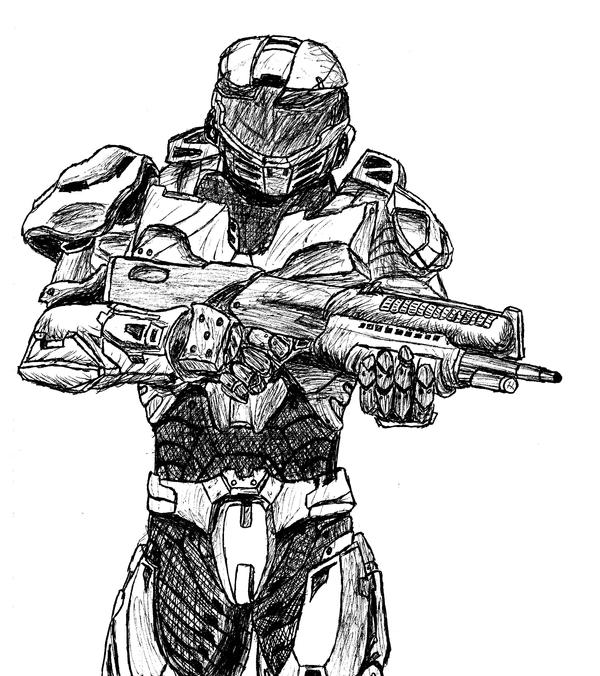 Spartan from Halo wars by Halo Spartan Sketches