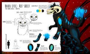 Baku ETEC - Ref Sheet - Feral Heart Character by Youshallfearme2