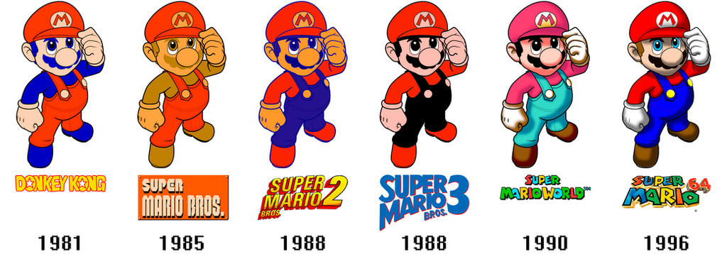 Super Mario Evolution by Leonardusky on DeviantArt